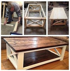Ideas How To Make A Coffee Table Using DIY Coffee Table Plans Coffee table made easy! The post Ideas How To Make A Coffee Table Using DIY Coffee Table Plans appeared first on Pallet Diy.
