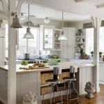 backless cabinets over the windows - clever.