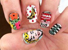 Andy Warhol inspired nails