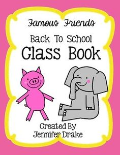 Do you students LOVE 'Elephant and Piggie' books? Do you want to make a fun 'getting to know you' class book that your students will want to read over and over all year?