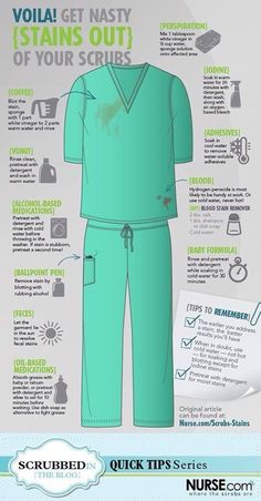 How to get vet stains out of scrubs. I have a feeling I'm going to need this handy