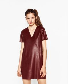 Image 2 of FAUX LEATHER DRESS from Zara