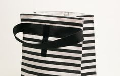 Adult lunch bag. Lunch tote.  Lunch box. Striped white and