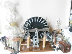 SELLING IN 5 MINS !ELECTRICITY GENERATING MACHINE Laboratory Scientific Steam Punk MUSEUM PIECE Steam Punk, Physique, Museum, Antiques, Ebay, Physicist, Antiquities, Antique, Physics
