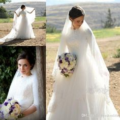 Discount 2017 High Neck Lace Wedding Dresses Floor Length Bridal Gown Plus Size . Discount 2017 High Neck Lace Wedding Dresses Floor Length Bridal Gown Plus Size . Source by bridalgownsga How To Dress For A Wedding, Buy Wedding Dress, Muslim Wedding Dresses, Lace Wedding Dress With Sleeves, V Neck Wedding Dress, Perfect Wedding Dress, Wedding Dress Styles, Dream Wedding Dresses, Bridal Wedding Dresses