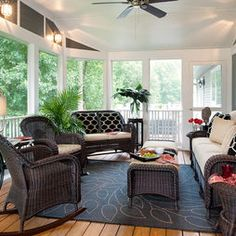 Screened In Porch furniture placement