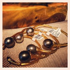 Tahitian Pearl Branch Cuffs!   Twitter / Recent images by @Samira13Jewelry Tahitian Pearls, All That Glitters, Lust, Cuffs, Pearl Earrings, Twitter, Jewelry, Style, Pearl Studs