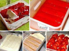 Cheesecake ve sklenici Strawberry Tiramisu, Chocolate Cake, Cheesecake, Deserts, Good Food, Brunch, Food And Drink, Ice Cream, Pudding