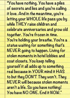 "SCANDAL. ""Living for stolen moments"""