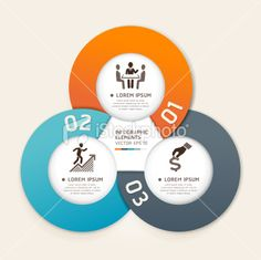 Modern Infographics business circle origami style template
