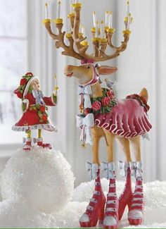 Add a whimsical touch to your Christmas display with the Patience Brewster Donna Dash Away Reindeer Character that features beautiful hand-painted details and joyous expression. Whimsical Christmas, Christmas Love, Christmas Holidays, Christmas Crafts, Christmas Decorations, Xmas Ornaments, Christmas Stockings, Clay People, Hand Crafts