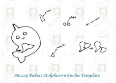 Nazzy Bakers Dolphicorn Cookie Template Making your Dolphicorn cookie/ cookies: 1) Start by making your cookie dough. Cream 200g of softened butter with 200g of caster sugar until the mixture is l…
