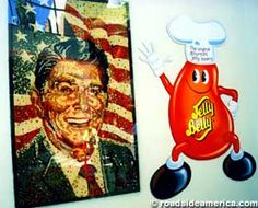 Ronald Reagan in jelly beans, Jelly Belly Factory Tour, Fairfield, CA.