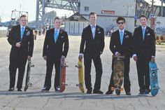 Real Wedding Wednesday ~ A Cool Red Head, Some Skateboarding, and a Dog
