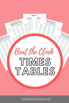 Learning times tables off by heart improves speed and accuracy. Improve your child's speed and accuracy with these multiplication and division drills. Times Tables, Drill, Multiplication Tables, Hole Punch, Drills, Drill Press