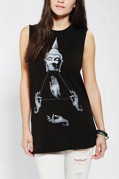 Corner Shop Buddha & Hands Muscle Tee #urbanoutfitters