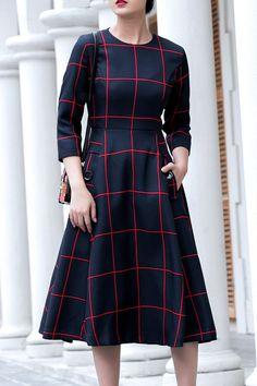 Plaid Dress