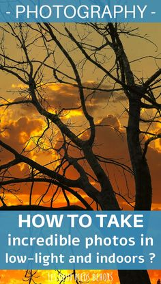 In this article, I present you everything you need to know to shoot great pictures in low light. It is often a time of day that we like (sunrise or sunset) or indoor photography. However, technically, it is not always so simple to shoot during these times. Here are all our best tips. Indoor Photography, Photography Basics, Photography Courses, Light Photography, Learn Photography, Photo Voyage, Low Lights, Great Pictures, Belle Photo