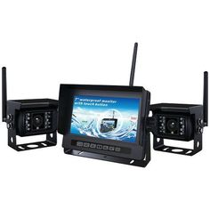 Crimestopper 2-channel 2.4ghz Digital Wireless Rv Backup Camera System With Parking-assist Lines