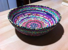You have to see Large Rainbow coil bowl on Craftsy! - Looking for sewing project inspiration? Check out Large Rainbow coil bowl by member Sarah Becker. - via @Craftsy