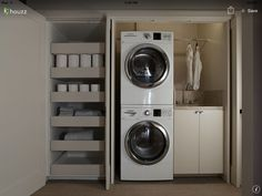 "Outstanding ""laundry room storage diy small"" info is offered on our web pages. Read more and you wont be sorry you did. Modern Laundry Rooms, Laundry Room Layouts, Laundry Room Organization, Laundry Storage, Laundry Room Design, Closet Storage, Storage Drawers, Compact Laundry, Modern Closet"