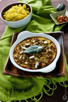 Babotie, a typical South African dish infused with Cape Malay spices, served traditionally with yellow rice & Mrs Balls Chutney!!!