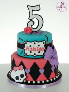 Monster High cake and cupcakes Our Purple Sugar Pinterest
