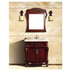 """Dawn UN39208-04 30"""" Traditional Vanity Cabinet Set with Single Ceramic Sink"""