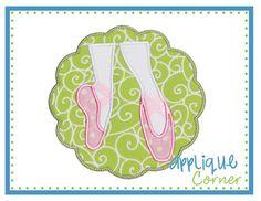 Ballet Scallop Patch Applique Design