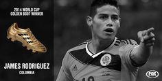 Golden boot- James Rodriquez Colombia