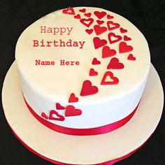 Happy Birthday Heart Cake With Your Name For Profile DP.Personalize Birthday Wishes DP With Custom Name.Happy Birthday Wishes New Cake With Your Name.MyNamePix