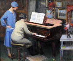 Mme Beau en répétition (c. 1920) - Henri Beau