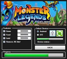 Monster Legends Hack (Gems, Food, Gold) | Games Hooks http://gameshooks.com/monster-legends-hack-gems-food-gold/