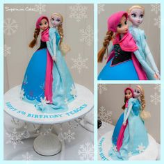 like the idea of 2 dolls in one cake..i would position them a lit bit diff