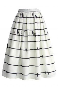 Sing a Love Song Printed Midi Skirt - CHICWISH SKIRT COLLECTION - Skirt - Bottoms - Retro, Indie and Unique Fashion