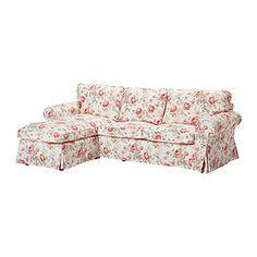 EKTORP Divano a 2 posti e chaise-longue - Byvik fantasia - IKEA