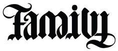 ambigram tattoo of Family/Forever