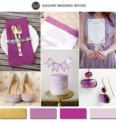 elegant shades of purple and gold wedding color ideas 2015 #weddingcolors #goldwedding #elegantweddinginvites