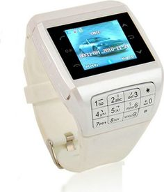 Generic Q5 Unlocked Touch Screen GSM Wrist Watch Mobile Cell Phone Bluetooth Keypad MP3 White - For Sale