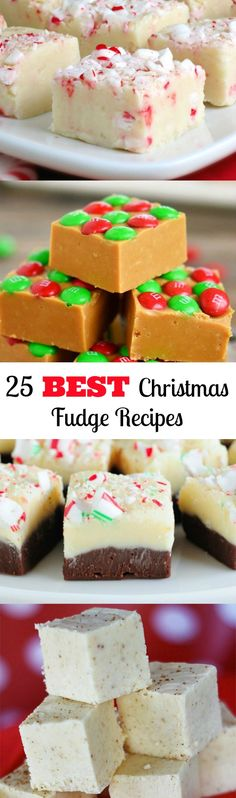 25 Fabulous Fudge Recipes for Gift Giving and Holiday Parties, Desserts, I have made most of these and they are EASY and everyone raves over how good they are. Seriously the BEST FUDGE recipes ever! Mini Desserts, Holiday Desserts, Holiday Baking, Holiday Recipes, Delicious Desserts, Holiday Parties, Christmas Recipes, Dinner Recipes, Holiday Dinner