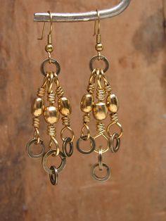 Upcycled Fishing Tackle Earrings  Brass Barrel Swivel by thekeyofa, $27.00