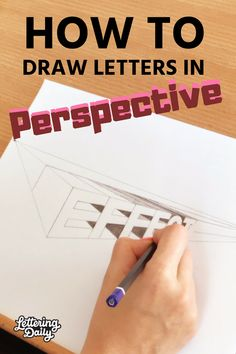 Learn how to draw letters in a 2 point perspective. Selina from @letteredinlovecreations will be guiding you step-by-step on how to draw letters in perspective. Perspective lettering can seem like something very complicated but with this guide, you will be creating 3D lettering pieces in no time! Calligraphy and hand lettering for beginners!  #lettering #handlettering #lettersinperspective #typography #design #letters #calligraphy