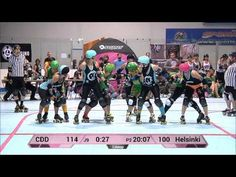 WFTDA Roller Derby: Charlottesville Derby Dames vs Helsinki Roller Derby - ECDX 2014 - YouTube
