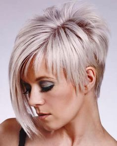 You may see here the wonderful ideas of undercut short pixie haircuts for women and girls to show off right now. This is one of the best styles among all the short pixie haircuts in year the Rest] Short Straight Haircut, Edgy Short Haircuts, Long Pixie Hairstyles, Straight Hairstyles, Asymmetrical Haircuts, Asymmetric Hair, Funky Hairstyles, Elegant Hairstyles, 2014 Hairstyles