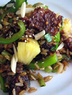 Teriyaki Tempeh Fried Rice with Pineapple