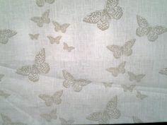 Tessuto in puro lino , stampato, h. 150