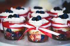 red white and blue fruit cup dessert