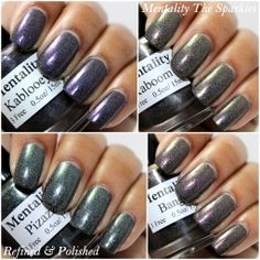 Mentality Nail Polish - the Sparkies Collection. Swatches by Refined and Polished.