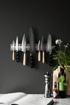 Scandinavian Design Factory Magnetlist - Rostfritt Stål #magnetlist #knivlist #knivmagnet #scandinaviandesignfactory
