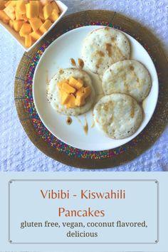 Vibibi - Kiswahili Pancakes - Mayuri's Jikoni breakfast, cardamom, coconut, coconut milk, dessert, Kenyan Cuisine, pancakes, rice, Street food, Swahili cuisine, vibibi, world pancakes, yeast Rice Pancakes, Indian Food Recipes, African Recipes, Milk Dessert, Gluten Free Rice, Coconut Milk, Street Food, Oatmeal, Vegetarian Breakfast